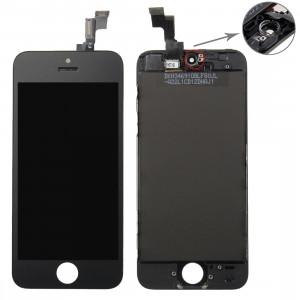 iPartsBuy 3 en 1 pour iPhone 5S (Original LCD + Cadre + Touch Pad) Assemblage de numériseur (Noir) SI716B1238-20