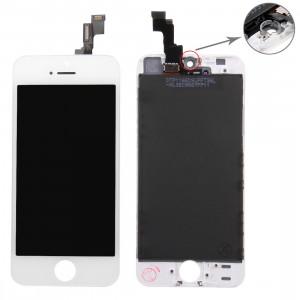 iPartsAcheter 3 en 1 pour iPhone 5S (Original LCD + Cadre + Touch Pad) Assemblage Digitizer (Blanc) SI716W989-20