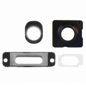 iPartsAcheter 4 en 1 pour iPhone 5S (objectif externe de caméra + anneau d'objectif de caméra + anneau de port de charge + anneau de prise casque) Kit de réparation (blanc) SI171W1215-20