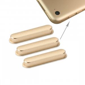 3 touches latérales iPartsBuy PCS pour iPad Air 2 / iPad 6 (Gold) S3102J719-20