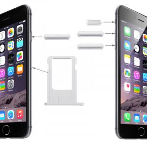 Plateau de carte et contrôle du volume Clé et verrouillage de l'écran Clé & Mute Switch Vibrator Key Kit pour iPhone 6 (Platinum) SP0190157-20
