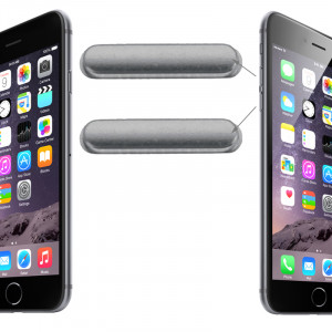 iPartsBuy clé de contrôle du volume d'origine pour iPhone 6 et 6 Plus (gris) SI224H665-20
