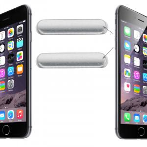 iPartsBuy clé de contrôle du volume d'origine pour iPhone 6 et 6 Plus (Argent) SI224S150-20