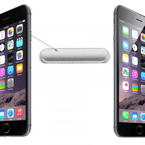 iPartsBuy bouton d'alimentation d'origine pour iPhone 6 et 6 Plus (Argent) SI227S1398-20