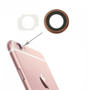 iPartsBuy Arrière Caméra Lens Ring + Remplacement Bracker lampe de poche pour iPhone 6s Plus, 10 Paires / Set (Rose Gold) SI13RG1700-20