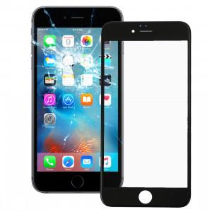 iPartsBuy pour iPhone 6s Plus lentille extérieure en verre de l'écran avant avec cadre avant de l'écran LCD (noir) SI030B631-20