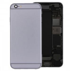 iPartsBuy batterie couvercle arrière avec bac à cartes pour iPhone 6s Plus (gris) SI426H1264-20