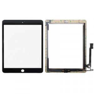 Bouton de contrôleur + Bouton de clé de maison PCB Câble de Flex de la membrane + Panneau tactile de remplacement d'écran tactile de remplacement d'écran pour l'iPad 4 (noir) SB707B1967-20