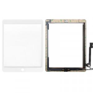 Bouton de contrôleur + Bouton de clé de la maison PCB Flex câble de la membrane + Panneau tactile de remplacement de l'écran tactile de remplacement pour iPad 4 (blanc) SB707W1158-20