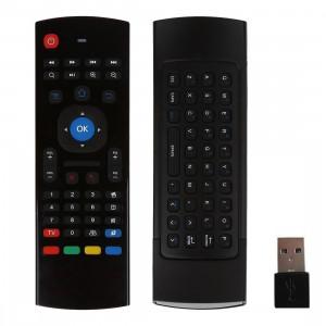 MX3 Air Mouse sans fil 2.4G clavier à télécommande avec raccourcis de navigateur pour Android TV Box / Mini PC SM00691550-20