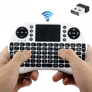 Rii 2.4GHz 92 touches clavier sans fil mini souris avec pavé tactile (blanc) SR20211294-20