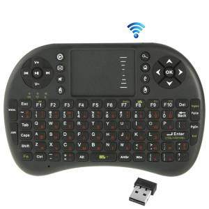 UKB-5400-RF 2.4GHz Mini souris sans fil clavier avec pavé tactile et récepteur USB, clavier anglais / clavier russe (noir) SU30081577-20