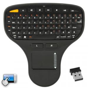 Mini clavier sans fil N5903 2,4 GHz avec pavé tactile et mini récepteur USB, taille: 137 x 125 x 28 mm (noir) SN30111075-20