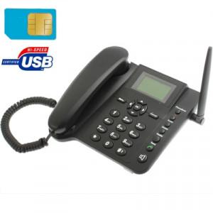 Téléphone d'affaires sans fil GSM fixe d'écran de 2,4 pouces TFT, bande de quadruple: GSM 850/900/1800 / 1900Mhz (noir) SH06051405-20