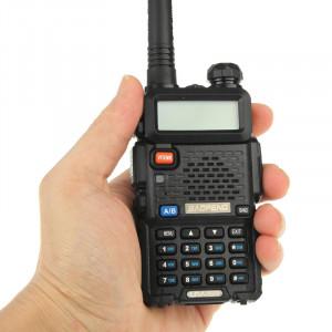 BAOFENG UV-5R professionnel double bande émetteur-récepteur FM talkie walkie talkie walkie (noir) SB581B1521-20