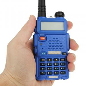 BAOFENG UV-5R professionnel double bande émetteur-récepteur FM talkie walkie radio émetteur-récepteur (bleu) SB581L903-20