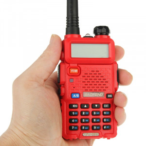 BAOFENG UV-5R professionnel double bande émetteur-récepteur FM talkie walkie talkie walkie (rouge) SB581R615-20