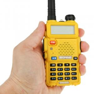 BAOFENG UV-5R Professionnel Émetteur-récepteur À Deux Bandes FM Radio Talkie Walkie Talkie Walkie (Jaune) SB581Y1525-20