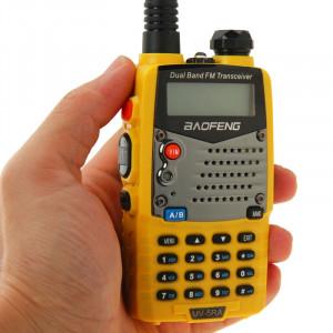 BAOFENG UV-5RA Professionnel Émetteur-récepteur Double Bande FM Transmetteur Talkie Walkie Radio Deux Voies (Jaune) SB590Y1423-20