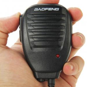Clip-on microphone haut-parleur pour talkies-walkies, 3,5 mm + 2,5 mm écouteur + prise micro (noir) SC690B1118-20