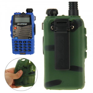 Étui en silicone Pure Color pour talkies-walkies série UV-5R (vert) S-20