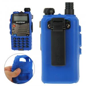 Housse en silicone Pure Color pour talkies-walkies série UV-5R (Bleu) SH696L869-20
