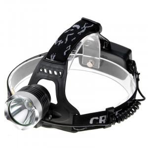 KX-K61 Lampe frontale légère 650lm, LED Cree XM-L T6, 3 modes, lumière blanche (noir + argent) SH0261592-20