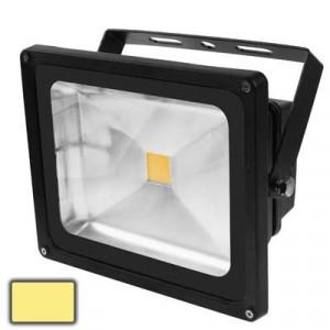 Lampe de projecteur LED haute puissance 50W, lumière blanche chaude, AC 85-265V, Flux lumineux: 4000-4500lm (Noir) SH39WW311-20