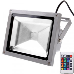 Projecteur étanche 20W, lampe LED RGB avec télécommande, AC 85-265V SH164979-20