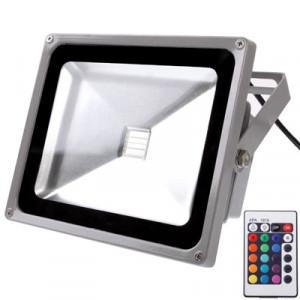 Projecteur étanche 50W, lampe LED RGB avec télécommande, AC 85-265V SH16501322-20