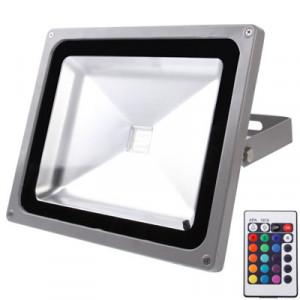 Projecteur étanche 50W, lampe LED RGB avec télécommande, AC 85-265V SH16511456-20