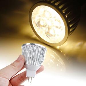 Ampoule de projecteur de projecteur de MR16 5W 480LM LED, 5 LED, lumière blanche chaude, 3000-3500K, AC / DC 12V SH11WW210-20