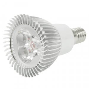 E14 3W ampoule de lampe de projecteur de LED, 3 LED, lumière blanche, 6000-6500K, CA 220V SH124W1007-20