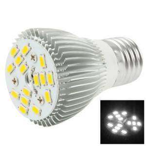 E27 6W ampoule de lampe de projecteur de LED, 15 LED 5050 SMD, lumière blanche, CA 85-265V SH164W1286-20