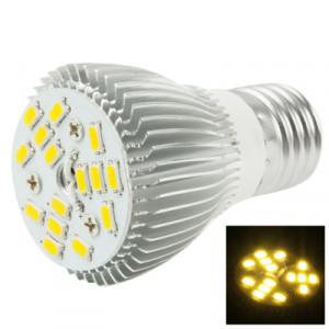 E27 6W ampoule de lampe de projecteur de LED, 15 LED 5050 SMD, lumière blanche chaude, AC 85-265V SH64WW1188-20