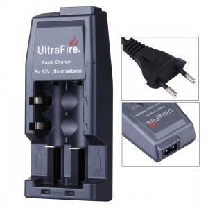 Chargeur de batterie UltraFire Rapid 14500/17500/18500/17670/18650, sortie: 4.2V / 450mA (prise UE) (Gris) SH00141536-20