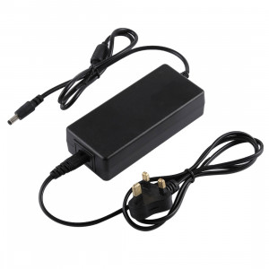 Unité d'alimentation CA UK Plug 12V 5A 60W avec prise de courant continu 5,5mm pour moniteur LCD Cordon, sorties: 5.5x2.5mm (noir) SH501C1676-20