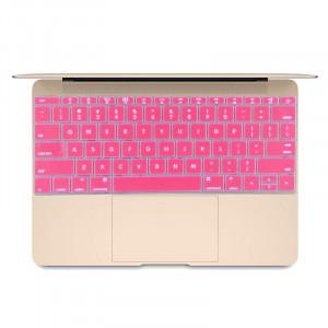Doux 12 pouces Silicone Keyboard Housse de protection pour nouveau MacBook, version américaine (Magenta) SH052M955-20