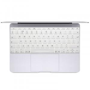 Doux 12 pouces Translucide Colorized clavier Housse de protection pour nouveau MacBook, version européenne (blanc) SH066W1714-20