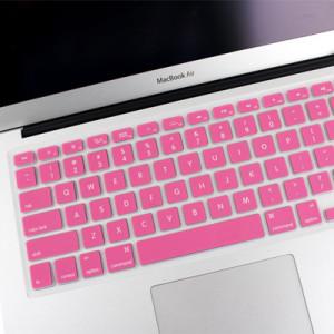 ENKAY Soft Silicone Clavier Protecteur Housse pour MacBook Air 13,3 pouces & Macbook Pro avec Retina Display 13,3 pouces & 15,4 pouces (Version US) / A1398 / A1425 / A1369 / A1466 / A1502 (Rose) SH300F385-20