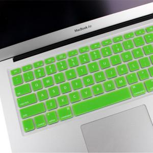 ENKAY Housse de protection pour clavier en silicone souple pour MacBook Air 13,3 pouces et Macbook Pro avec écran Retina 13,3 pouces et 15,4 pouces (version US) / A1398 / A1425 / A1369 / A1466 / A1502 (vert) SH300G1906-20
