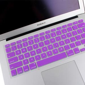 Housse de protection pour clavier en silicone souple ENKAY pour MacBook Air 13,3 pouces et Macbook Pro avec écran Retina 13,3 pouces et 15,4 pouces (version US) / A1398 / A1425 / A1369 / A1466 / A1502 (violet) SH300P304-20