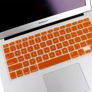 ENKAY Soft Silicone Clavier Protecteur Skin pour MacBook Air 13,3 pouces & Macbook Pro avec Retina Display 13,3 pouces & 15,4 pouces (Version US) / A1398 / A1425 / A1369 / A1466 / A1502 (Orange) SH00RG1756-20