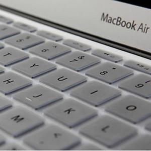 ENKAY Soft Silicone Clavier Protecteur Skin pour MacBook Air 13,3 pouces & Macbook Pro avec Retina Display 13,3 pouces & 15,4 pouces (Version US) / A1398 / A1425 / A1369 / A1466 / A1502 (Argent) SH300S714-20