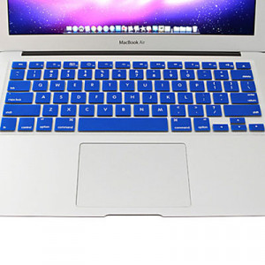 ENKAY pour MacBook Air 11.6 pouces (Version US) Coloré Silicon Soft Clavier Protecteur Peau de Couverture (Bleu) SH14BE507-20