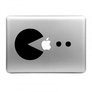 Chapeau-Prince Mangez Pomme Motif Déco Peau Autocollante Amovible pour MacBook Air / Pro / Pro avec Retina Display SE0020419-20
