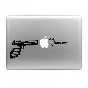 Chapeau-Prince Tirant l'autocollant de peau décorative démontable de modèle de pomme pour MacBook Air / pro / pro avec l'affichage de rétine, taille: L SE0036418-20