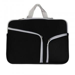 Double poche Zip sac à main pour ordinateur portable sac pour Macbook Air 13 pouces (noir) SH313B1717-20