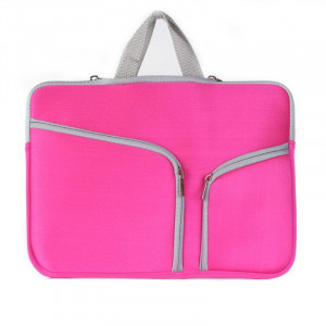 Double poche sac à main sac à fermeture à glissière pour ordinateur portable Macbook Air 13 pouces (Magenta) SH313M505-20