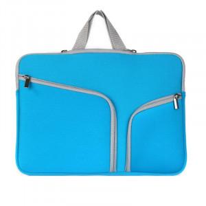 Double poche Zip sac à main pour ordinateur portable sac pour Macbook Pro 15 pouces (bleu foncé) SH314D29-20